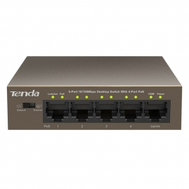 Switch PoE Tenda TEF1105P 5-Port 10/100Mbps