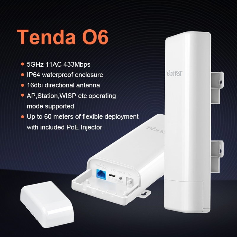 CPE Wifi ngoài trời Tenda O6 (10KM)