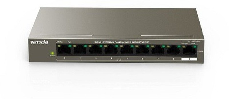 Switch PoE Tenda TEF1109P 9-Port 10/100Mbps